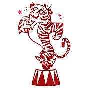 Vinilo Tigre de Circo Vinotinto, Fucsia Medida G