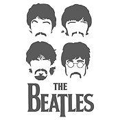 Vinilo The Beatles Gris Oscuro Medida M