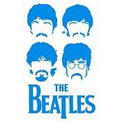 Vinilo The Beatles Azul Claro Medida M