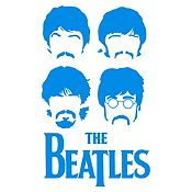 Vinilo The Beatles Azul Claro Medida G