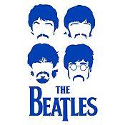Vinilo The Beatles Azul Medio Medida M