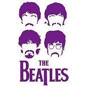 Vinilo The Beatles Morado Medida G