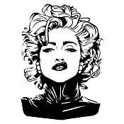 Vinilo Madonna Negro Medida P