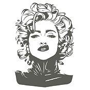Vinilo Madonna Gris Oscuro Medida M