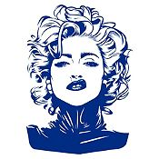 Vinilo Madonna Azul Oscuro Medida P