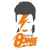 Vinilo David Bowie Gris Oscuro, Naranja Medida M