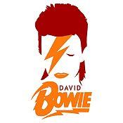 Vinilo David Bowie Vinotinto, Naranja Medida M