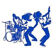 Vinilo Banda de Rock Azul Medio Medida P