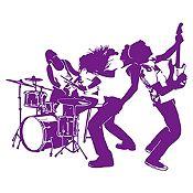 Vinilo Banda de Rock Morado Medida M