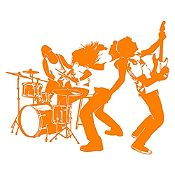 Vinilo Banda de Rock Naranja Medida P