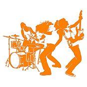 Vinilo Banda de Rock Naranja Medida G