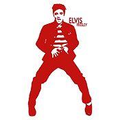 Vinilo Elvis Presley Vinotinto Medida P