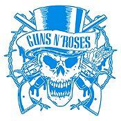 Vinilo Calavera Guns N Roses Azul Claro Medida P