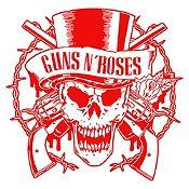 Vinilo Calavera Guns N Roses Rojo Medida M
