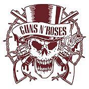 Vinilo Calavera Guns N Roses Marrón Medida P