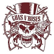 Vinilo Calavera Guns N Roses Marrón Medida G