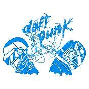 Vinilo Daft Punk Azul Claro Medida P