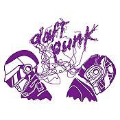 Vinilo Daft Punk Morado Medida M