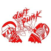 Vinilo Daft Punk Rojo Medida M