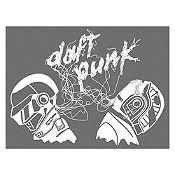 Vinilo Daft Punk Blanco Medida P