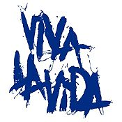 Vinilo Coldplay Viva La Vida Azul Oscuro Medida P