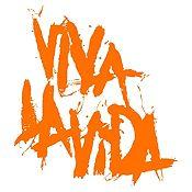 Vinilo Coldplay Viva La Vida Naranja Medida P