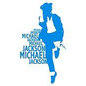 Vinilo Michael Bailando Azul Claro Medida P