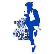 Vinilo Michael Bailando Azul Medio Medida P