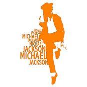 Vinilo Michael Bailando Naranja Medida M