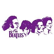 Vinilo Beatles Rostros Morado Medida P
