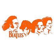 Vinilo Beatles Rostros Naranja Medida M