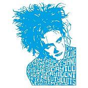 Vinilo Robert Smith The Cure Azul Claro Medida M