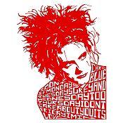 Vinilo Robert Smith The Cure Rojo Medida P