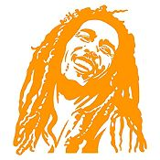 Vinilo Bob Marley Naranja Medida P