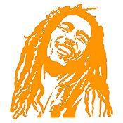 Vinilo Bob Marley Naranja Medida G