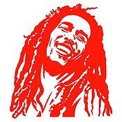Vinilo Bob Marley Rojo Medida G