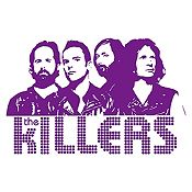 Vinilo The Killers Morado Medida P