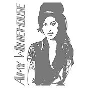 Vinilo Amy Winehouse Gris Oscuro Medida P