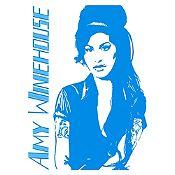 Vinilo Amy Winehouse Azul Claro Medida G