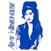 Vinilo Amy Winehouse Azul Medio Medida M