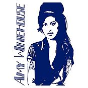 Vinilo Amy Winehouse Azul Oscuro Medida G