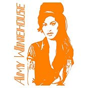 Vinilo Amy Winehouse Naranja Medida P