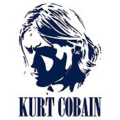Vinilo Kurt Cobain Azul Oscuro Medida P