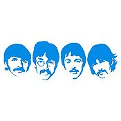 Vinilo The Beatles Azul Claro Medida M
