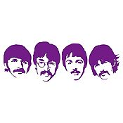 Vinilo The Beatles Morado Medida P