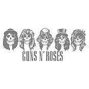Vinilo Guns N Roses Gris Oscuro Medida G