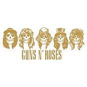 Vinilo Guns N Roses Dorado Medida M