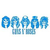 Vinilo Guns N Roses Azul Claro Medida G