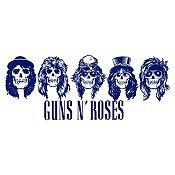 Vinilo Guns N Roses Azul Oscuro Medida M