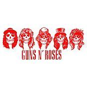Vinilo Guns N Roses Rojo Medida G